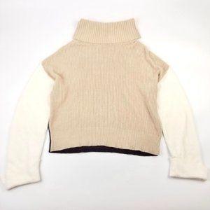 NEW | Splendid Color Block Crop Sweater Oat Medium